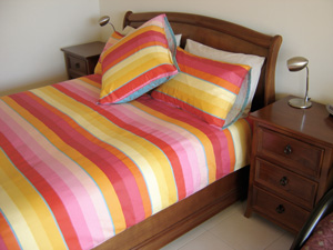 Queen bed in bedroom 2